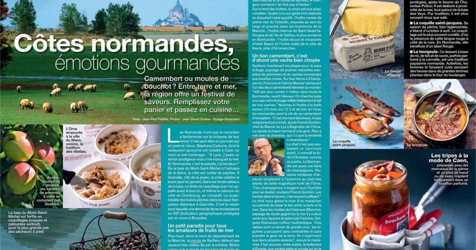 La Normandie à la une de Cuisine Actuelle !
